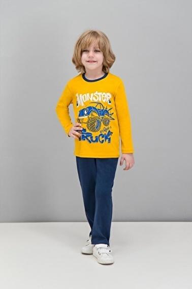 Roly Poly Rolypoly  Hardal Erkek Çocuk Pijama Takımı Sarı